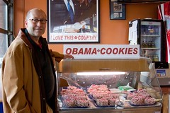 October 4, 2009 - Ambassador Jacobson with Obama Cookies