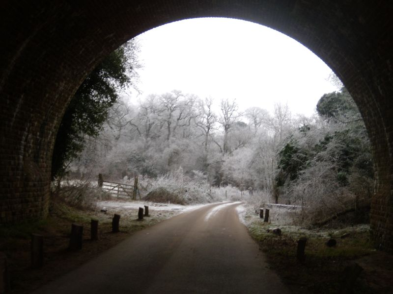 Snow globe Wanborough to Godalming
