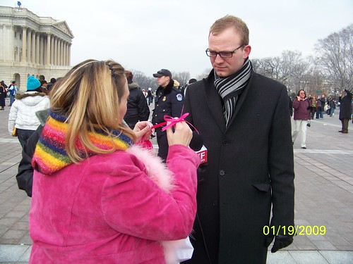 CodePink Peace Ribbons on the Mall