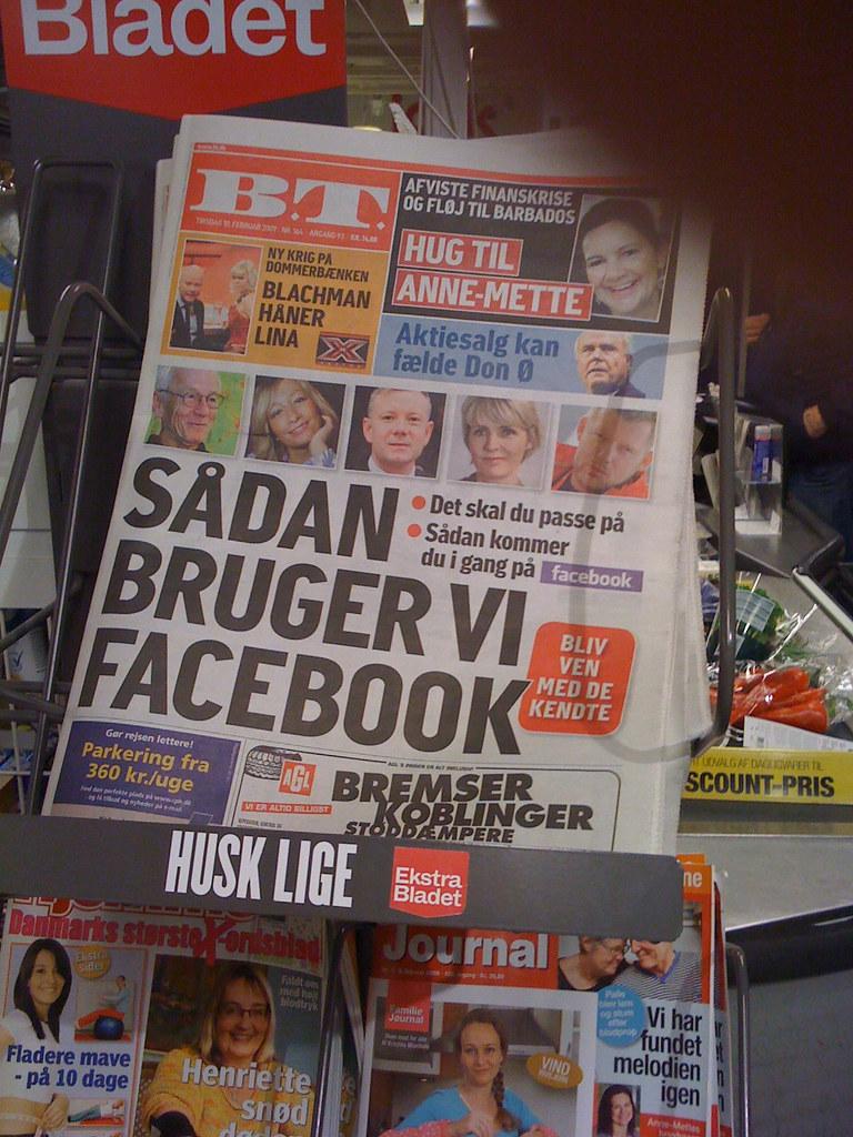 Facebook er stor i DK n\xe5r det er p\xe5 forsiden