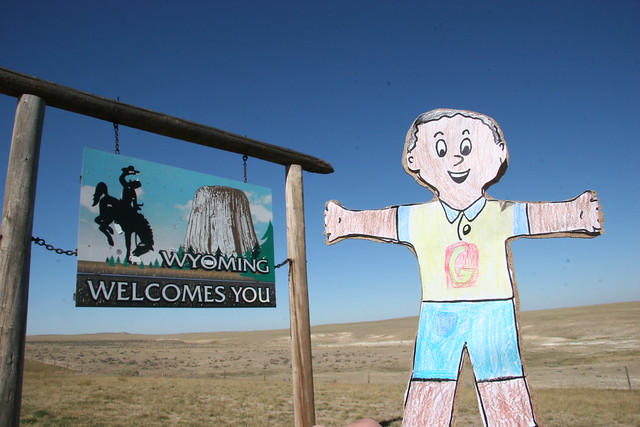 Flat Stanley visits Wyoming