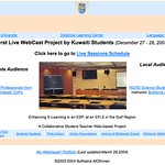 First Live Webcast Project by Kuwait University ESP Science Students