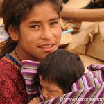 Guatemalan Girl and Baby Sister - Antigua, Guatemala
