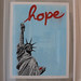"Jef Aérosol 2009 - new silkscreen print : ""hope"""