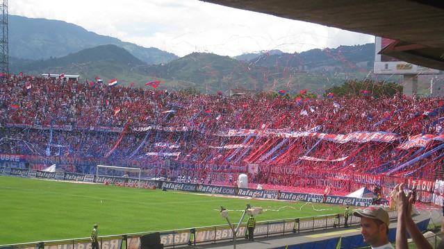 Independiente Medellin fans at a day game