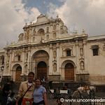 Audrey and Dan at Cathedral - Antigua, Guatemala