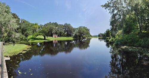 lake reflections landscape southcarolina panoramic charleston paintshoppro middletonplace hugin paintshopprox2 ricemillpond