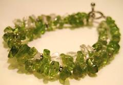 peridot & quartz bracelet