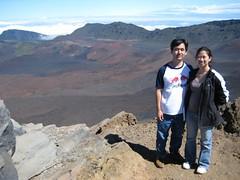 Haleakala National Park, Maui: Kalahaku Overlook - John and Nikki