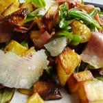 Gemüse- und Mortadellasalat, lauwarm