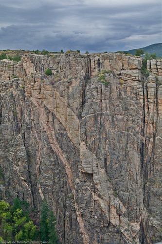 park trip stone wall painted roadtrip landmark national hdr blackcanyonofthegunnison striations geologial