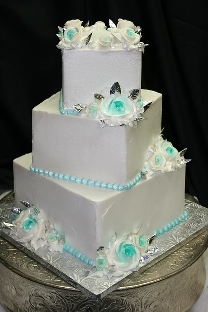 tiffany blue and white wedding cake flickr photo sharing. Black Bedroom Furniture Sets. Home Design Ideas