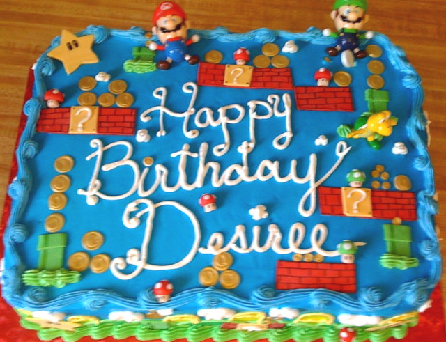 Super Mario Bros Sheet Cake 3 Toys On This Cake And