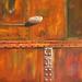 Small photo of Acrylic rust with pebble