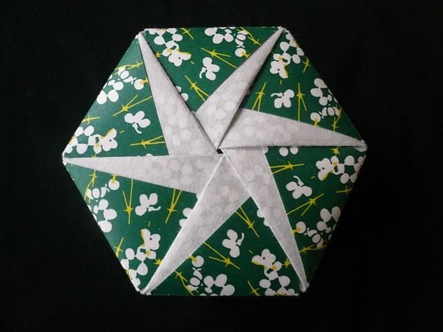 Handmade By Deb  Hexagonal Origami Box