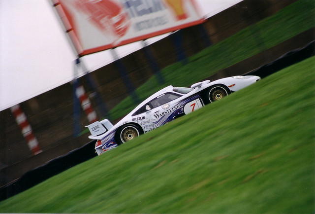 porsche gt1 1997 donnington scanned from 35mm canon eos 10 flickr photo sharing. Black Bedroom Furniture Sets. Home Design Ideas