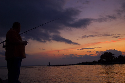 sunset water clouds river bay fishing dusk maryland pole watershed tall channel timbers chessapeake