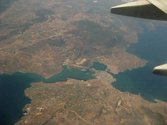 Flying over Chalkida, Greece - 07/2009