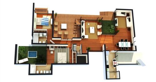 Plantas de casas modernas for Casas modernas plantas
