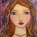 Mixed Media Portrait Painting Art - Amelia by Sascalia