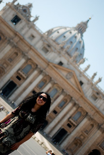 Silvia at St. Peter's Square