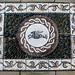 Garden pebble mosaic