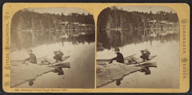Sweeney's Carry, Upper Saranac Lake.