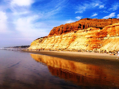 Beautiful California Coast, Ocean Reflections at Torrey Pines Beach , Try it LARGE!