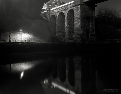 River Wear at Night, Sunderland (5x4)