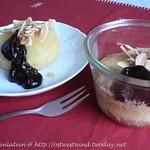 Ananas-Kokostörtchen mit heißer Schokolade