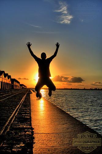sunset silhouette rio brasil grande jump do bolivar pôrdosol porto salto alegre mapping pulo reflexo tone guaíba sul cais trindade silhueta gaúcho armazen duetos