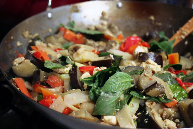 Thai Green Curry Stir Fry with Kaffir Lime Leaves | Flickr - Photo ...