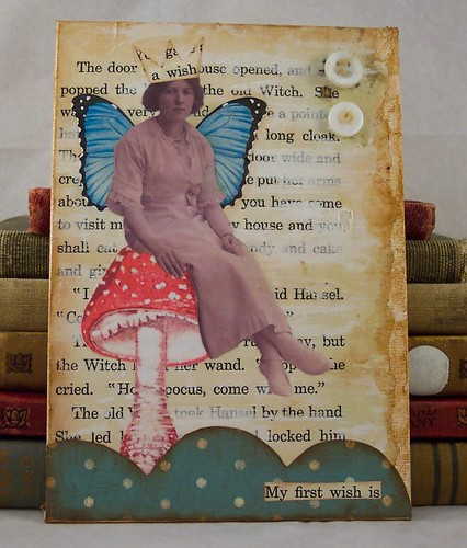 Fairy Sitting on a Mushroom Collage