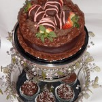 Chocolate Merlot Cake  The cake sold for $475.00