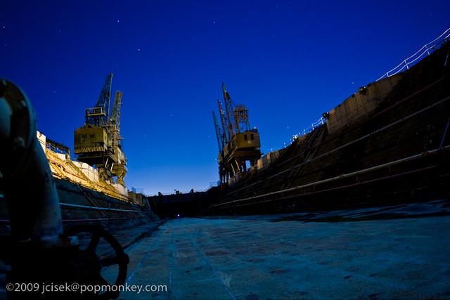 drydock and cranes