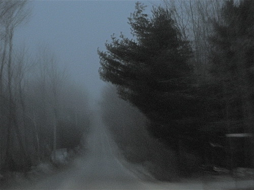Back roads and fog