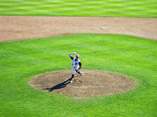 park wood game cold green field grass minnesota zach ball town spring view arm baseball bat aerial bent mound left amateur mn far fastball pitching springers stride femrite