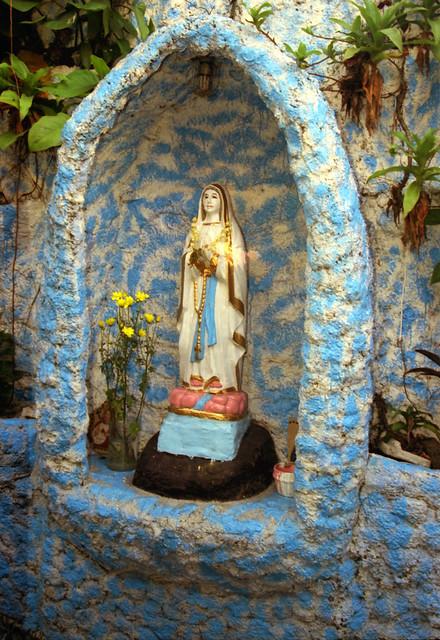 street side grotto Virgin Mary Flickr Photo Sharing