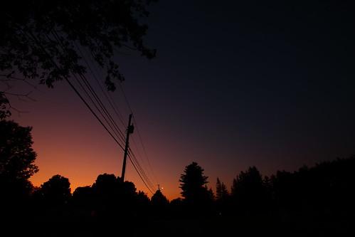 trees sunset lines silhouette buildings vermont sundown dusk wires telephonepole vt randolph canon40d