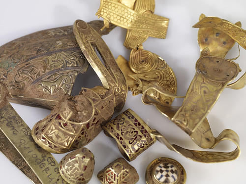 Earkly photos of the staffordshire hoard (not David's - but from Birmingham Museum and Art Gallery)