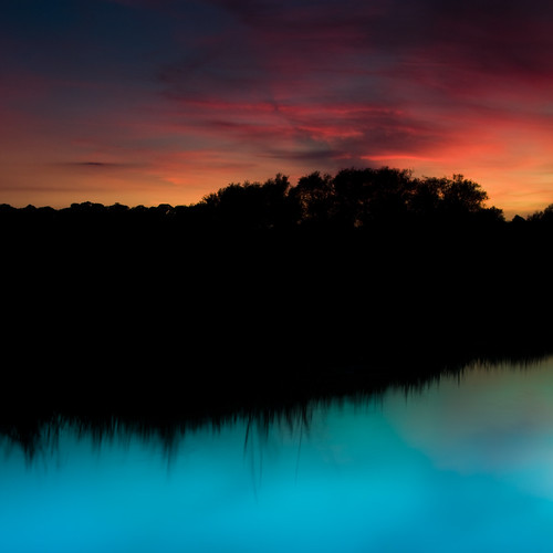 blue sunset red reflection clouds canal leicestershire rothley cossington