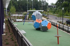 outdoor play equipment, public space, playground, park,