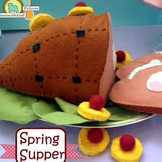 Vintage style #felt #ham for #Easter #americanfeltandcraft #feltfood #springsupper #diy #craft #pattern