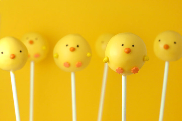 Chick Cake Pops Images : Easter Cake Pops Flickr - Photo Sharing!