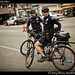 Cool cops ride bikes