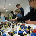 Building the Lego people for the Schwag Bags