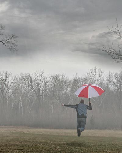 ohio rain clouds umbrella flying spring jump toledo skip metropark secor