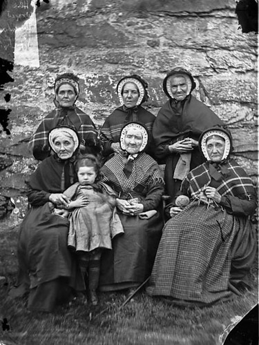 A group of women from Ysbyty Ifan almshouses