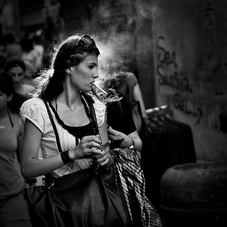 the smoking woman