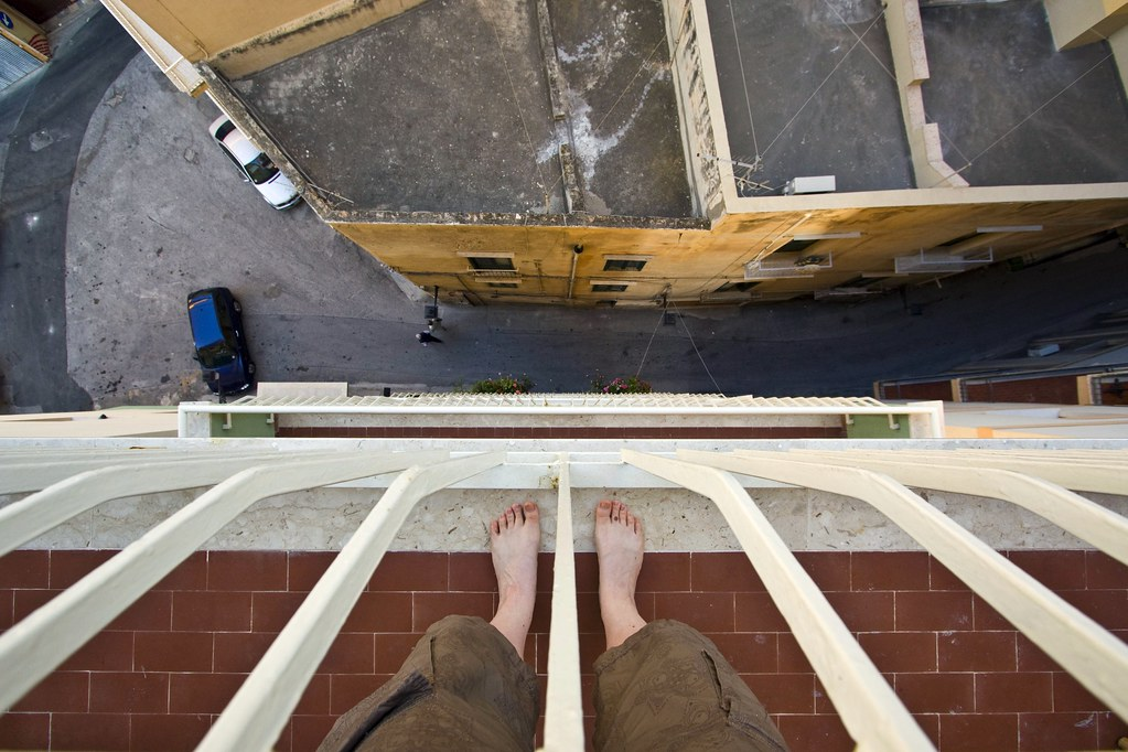 two feet forty feet up